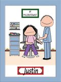 Phlebotomist Cartoon Picture Male - Personalized 8480