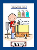 Dog Groomer Cartoon Picture Male - Personalized 8484