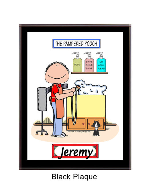 Dog Groomer Cartoon Picture from $ 14.99 · Dog Groomer Plaque