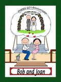 Anniversary Couple Cartoon Picture - Personalized 8501