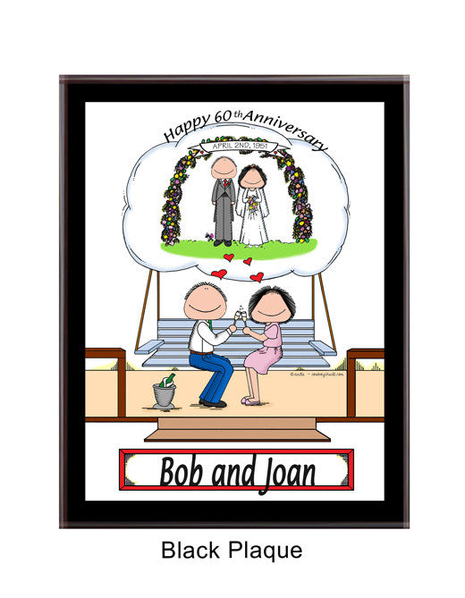 Anniversary Couple Plaque