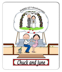 Anniversary Couple Mouse Pad Personalized