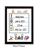 Baby Announcement Plaque Personalized