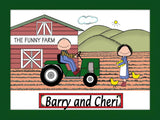 Farming Couple Cartoon Picture Personalized 8510