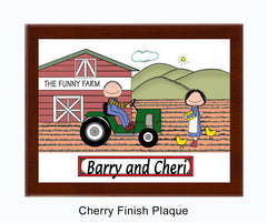 Farming Couple Plaque Personalized