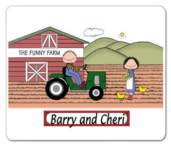 Farming Couple Mouse Pad Personalized