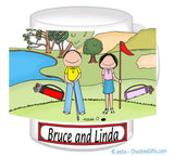 Golfer Couple Mug - Personalized