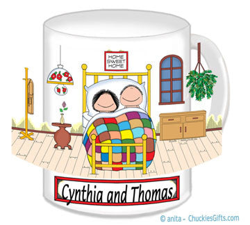 8513 - Home Sweet Home Mug Male and Female - Personalized