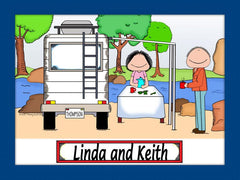 RV Cartoon Picture Male and Female -Personalized 8516