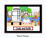 RV Couple Plaque Personalized