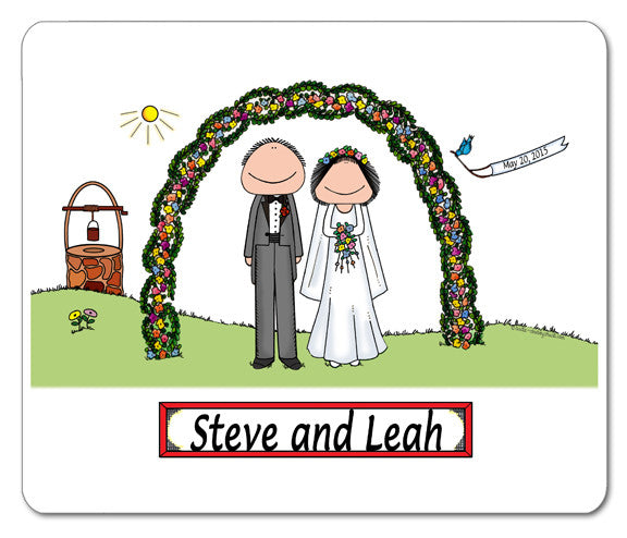 Wedding Outdoor Couple Mouse Pad