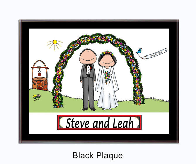 Wedding Outdoor Couple Plaque