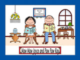 Grandparents Cartoon Picture Male and Female - Personalized 8523