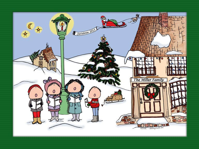 Christmas Carolers Cartoon Picture