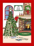 Christmas Tree Cartoon Picture - Personalized 8537