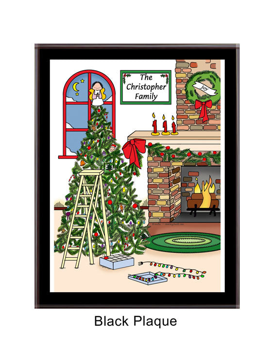 8537 - Christmas Tree Plaque Personalized