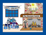 Hanukkah Cartoon Picture - Personalized 8555