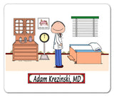 Doctor ENT Mouse Pad Male - Personalized