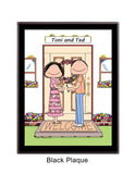 New Home Couple Plaque Personalized