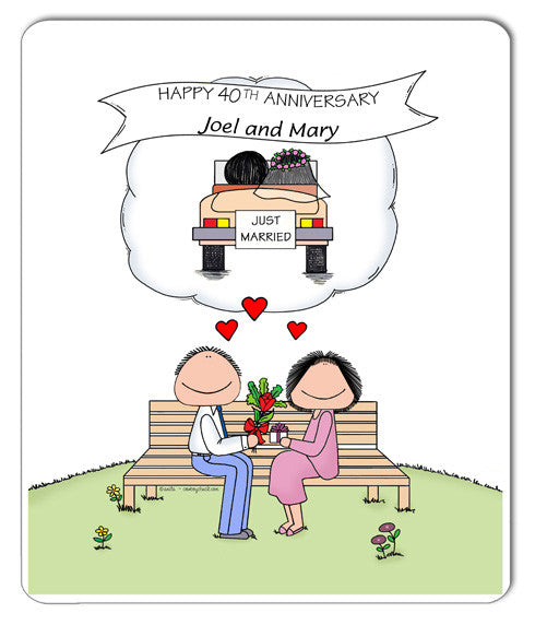 Anniversary - Memories Couple Mouse Pad