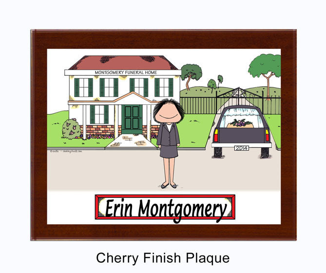 8571 - Funeral Director Plaque Female - Personalized