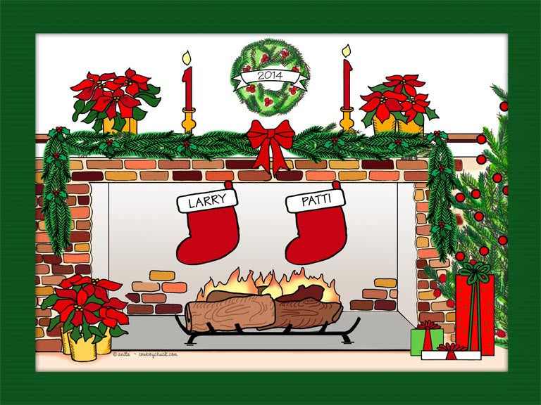 Christmas Stockings Cartoon Picture