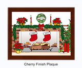 Christmas Stockings Plaque - Personalized 2 Stockings
