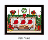 Christmas Stockings Plaque - Personalized 3 Stockings