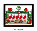 Christmas Stockings Plaque - Personalized 5 Stockings