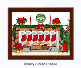Christmas Stockings Plaque - Personalized 6 Stockings