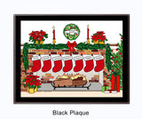 Christmas Stockings Plaque - Personalized 7 Stockings
