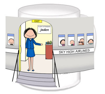Flight Attendant Mug Female - Personalized 8579