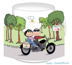 Motorcycle Couple Mug
