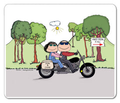 Motorcycle Couple Mouse Pad Couple Personalized