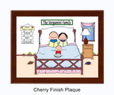 Home Sweet Home Family Plaque - 1 Kid - Personalized
