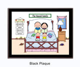 Home Sweet Home Family Plaque - 2 Kids - Personalized