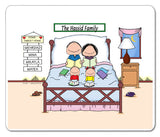 Home Sweet Home Family Mouse Pad 2 Kids