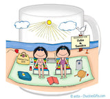 Sunbathers Friends / Sisters Mug Personalized