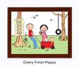Outdoor Family Plaque 2 Kids - Personalized