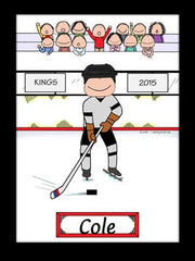 Hockey Player Cartoon Picture Male - Personalized 8620