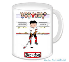 Hockey Player Male Mug - Personalized