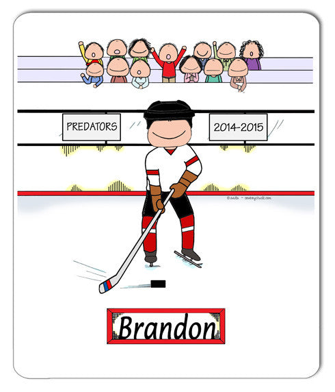 Hockey Player Mouse Pad Male Personalized