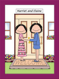 New Home Cartoon Picture Female and Female - Personalized 8633