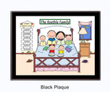 Home Sweet Home Family Plaque - 4 Kids - Personalized
