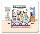 Home Sweet Home Family Mouse Pad 6 Kids