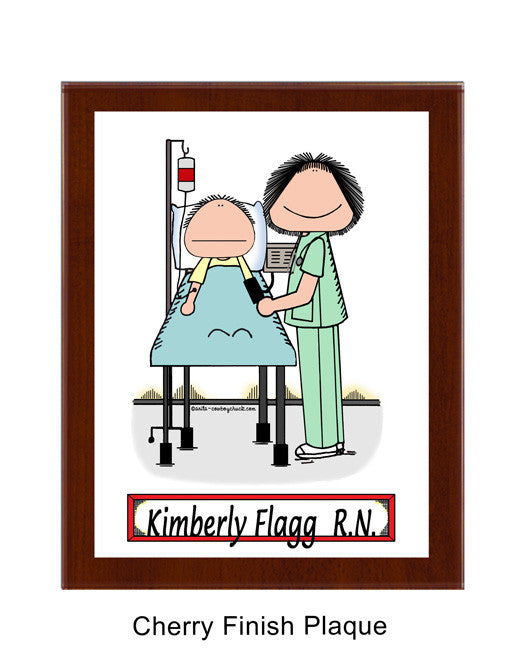Recovery Room Nurse Plaque Female - Personalized