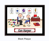 Speech Therapist Plaque Male - Personalized