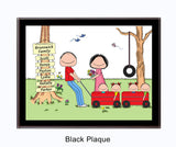 Outdoor Family Plaque 4 Kids - Personalized