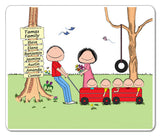 Outdoor Family Mouse Pad 5 Kids Personalized