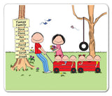Outdoor Family Mouse Pad 6 Kids Personalized